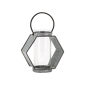 Reavis Galvanized Small Lantern in Gray
