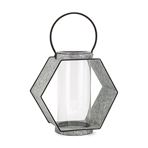 Reavis Galvanized Large Lantern in Gray