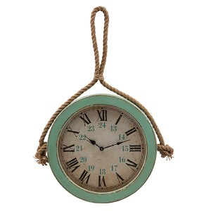 Burton Green Coastal Wall Clock