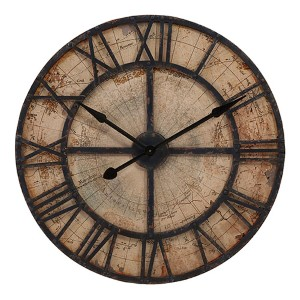 Brown Bryan Map Wall Clock