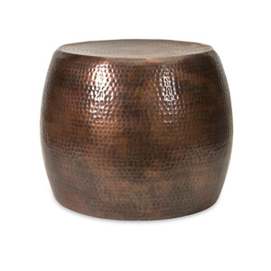 Nuria Brown Short Accent Table