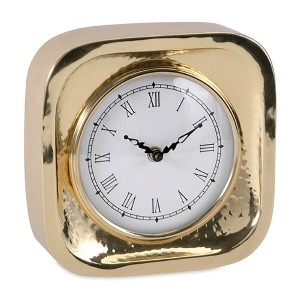 Essentials Celebrations Gold and White Wall Clock