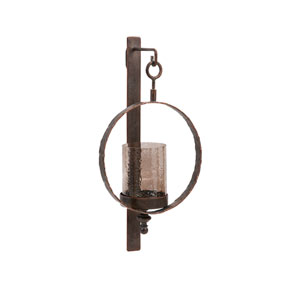 Brown Circle Wall Sconce