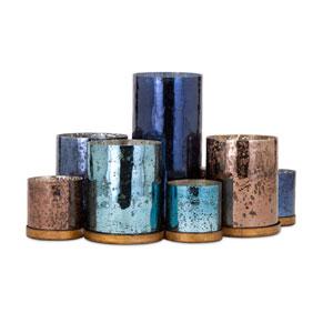 Rosalie Blue and Copper Nine-Light Candle Holder