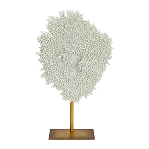 White and Gold Large Coral Sculpture