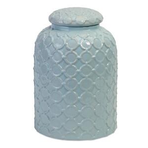 Robin Egg Blue Lidded Jar