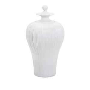 Lexyn White Tall Lidded Urn