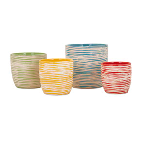Garin Multicolor Planters, Set of Four
