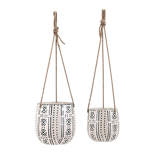 Relli Hanging Planters - Set of 2 in Black