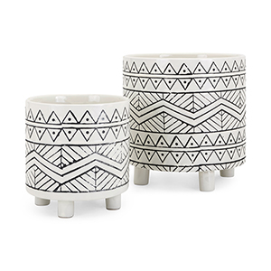 Ratlif Planters - Set of 2 in Black