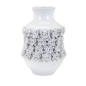 Bella Large Vase in White