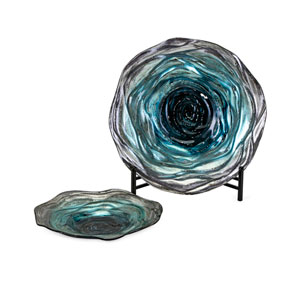 Tilbury Glass Chargers with Stand, Set of 2