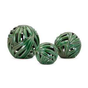 Palmetto Wall or Deco Balls, Set of 3