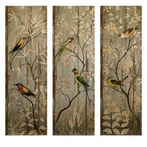 Calima Bird Wall Decor, Set of Three