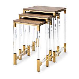 Mave Acrylic Leg Tables, Set of 3