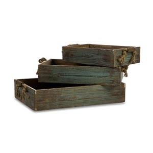 Northfork Wood Trays, Set of Three
