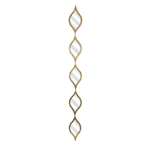 Ophelia Gold Five Teardrops Wall Mirror