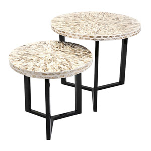 Surya Shell Tables, Set of 2