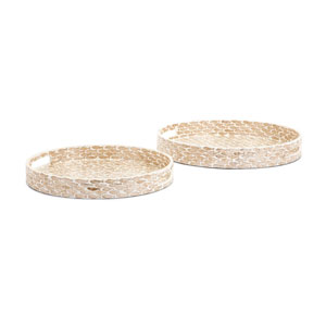 Pisces Shell Decorative Trays, Set of 2