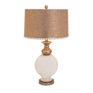 Lily Gold and Cream Glass One-Light Table Lamp