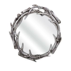 Aspen Gray Antler Wall Mirror