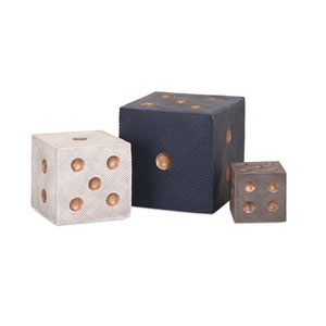 Beth Kushnick Decorative Dice , Set of 3