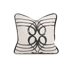 Iffat Khan White Symphony Sequin 14-Inch Decorative Pillow