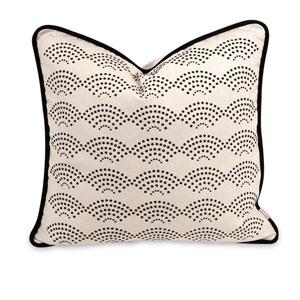 Iffat Khan White Ledux 18-Inch Decorative Pillow