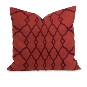 Iffat Khan Red Dyani 18-Inch Decorative Pillow
