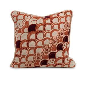 Iffat Khan Amber and Red Haliea 16-Inch Decorative Pillow