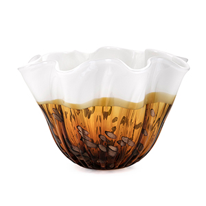 Marcella Glass Bowl in Brown