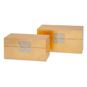 Danes Gold Leaf Box, Set of Two