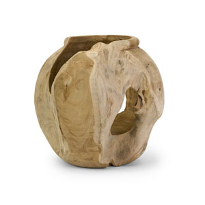 Macaque Natural Teakwood Vase