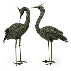 Metal Coastal Birds, Set of Two