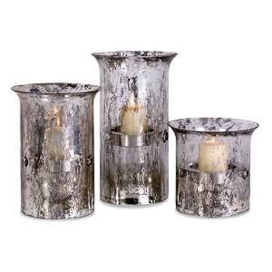 Mercury Iron Candleholder, Set of Three
