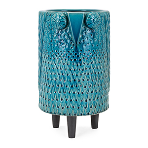 Owl Large Vase in Blue