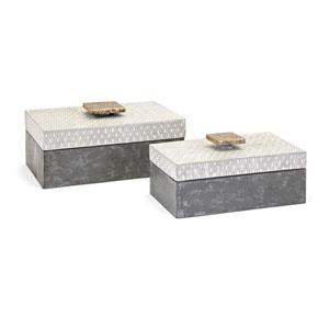 Parker Metal Boxes, Set of 2