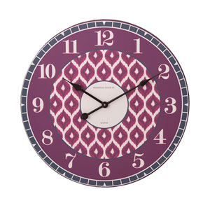 Essentials Irresistible Plum and Berry Wall Clock