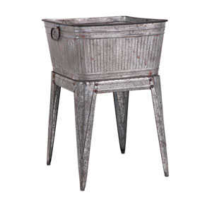 Perryman Grey Galvanized Tub on Stand