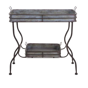 Maggie Grey Galvanized Tray Table