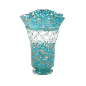 Ithaca Blue Web Glass Vase
