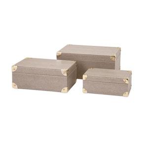 BAK Home Grey Storage Boxes, Set of Three