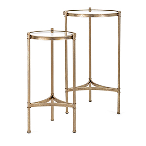 Vasos Gold Accent Table, Set of 2