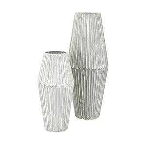 Willow Gray Vase, Set of 2