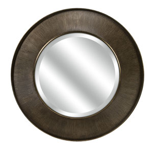 CKI Brown Harcourt Round Wall Mirror