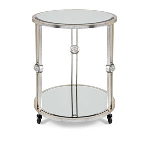 Crestly Mirror Table on Wheels