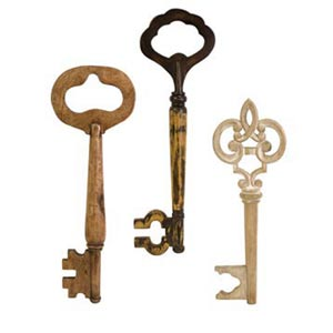 Mason Wood Wall keys, Set of Three