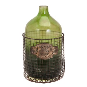 Green Caged Glass Jug