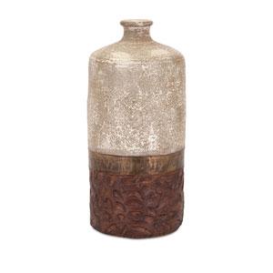 Sabah Beige and Bronze Large Terra Cotta Vase