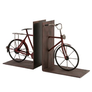 Brown Renee Bicycle Bookend, Set of Two